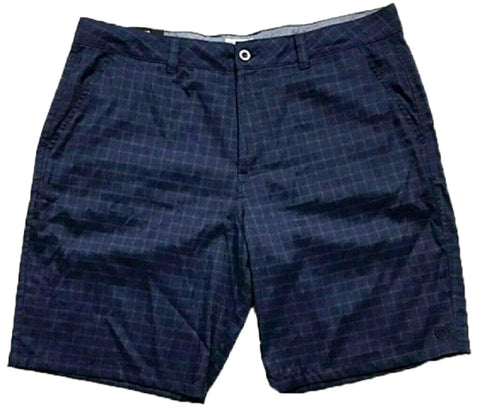 Hang Ten Men's Walk Shorts Navy Plaid