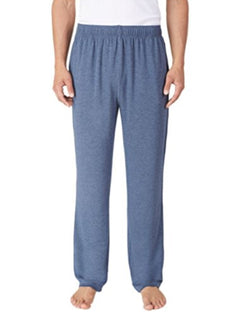 Tommy Bahama Men's Soft Knit Lounge Pants With Draw Strings - Heather Blue