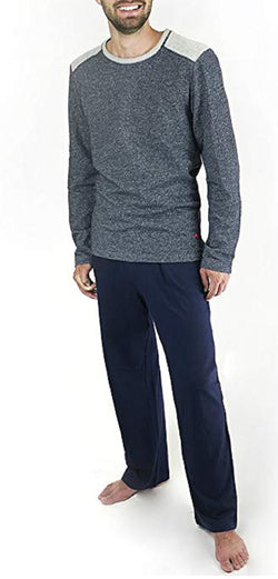 Tommy Bahama Men's Long Sleeve Top & Pant Pajama Set - Navy