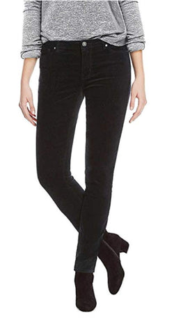 Buffalo David Bitton Mid-Rise Skinny Faux Velvet Pant for Women - Black