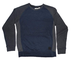 DKNY Jeans Men's Sweater Color Block Pullover - Navy