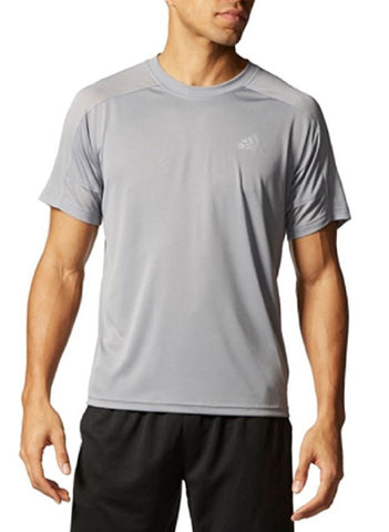 Adidas Men's Climacore Climalite Althletic Mesh Shoulder T-Shirt -Grey