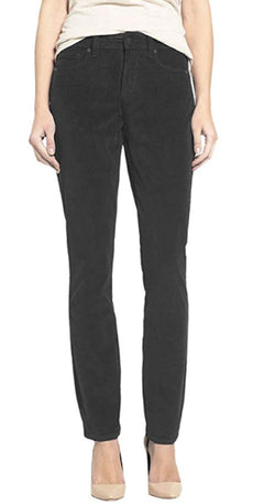 Buffalo David Bitton Womens Mid Rise Skinny Stretch Supreme Corduroy Pants - Black