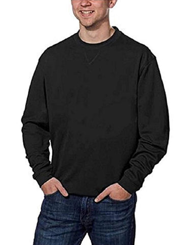 Pebble Beach Performance Mens Crew Neck Golf Pullover - Black
