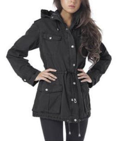 Buffalo David Bitton Womens Anorak Jacket - Black