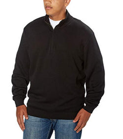 Cutter & Buck Men's 1/4 Zip Sweater - Black