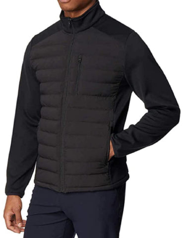 32 Degrees Men's Mixed Media Jacket - Black