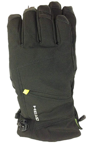Head Men's DuPont Sorona Insulated Ski Glove With Pocket - Black/Lime