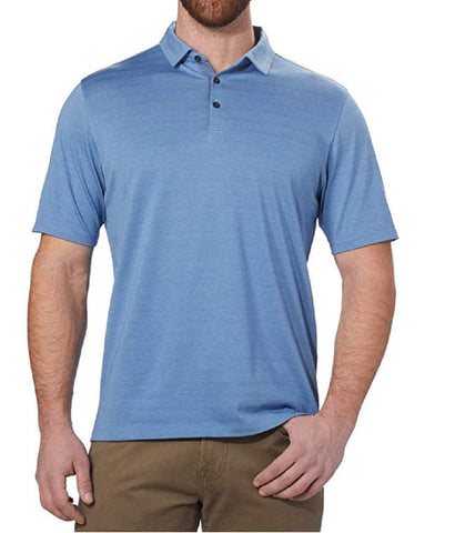 Kirkland Signature Men's Cotton Poly Polo Shirt - Light Blue
