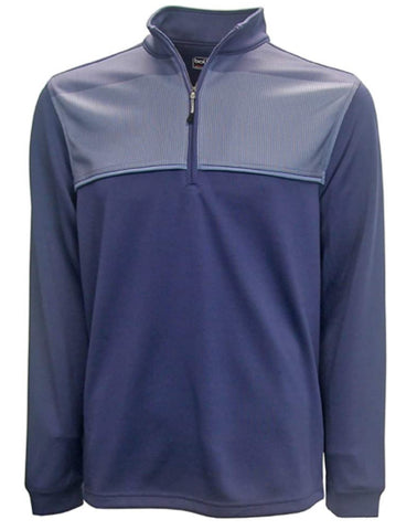 Bolle Men's Moisture Wicking Performance 1/4 Zip Pullover - Crown Blue