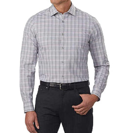 Calvin Klein Jeans Men's 4-Way Stretch Dress Shirt - Grey