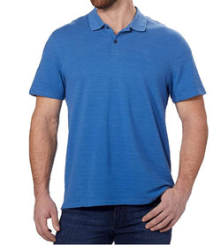 Calvin Klein Men's Short Sleeve Pique Cotton Polo Shirt - Bright Cobalt