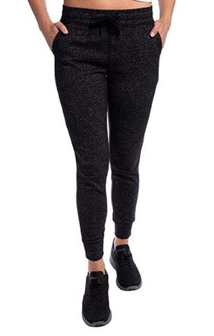 Champion Ladies' French Terry Jogger - Black Stripe