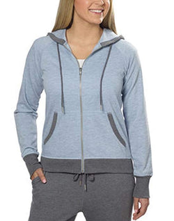 Champion® Ladies' French Terry Full Zip Hoodie - Blue Heather