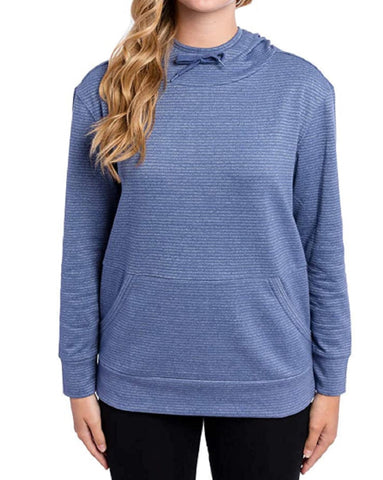 Champion Women's French Terry Hoodie - Steel Blue