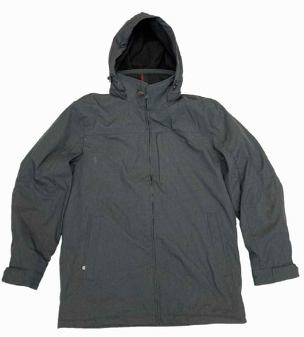 Weatherproof Men's Ultra Tech Jacket with Removeable Hood Charcoal Heather