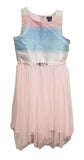Zunie Girls Special Occasion Sleeveless Dress Pink Rainbow
