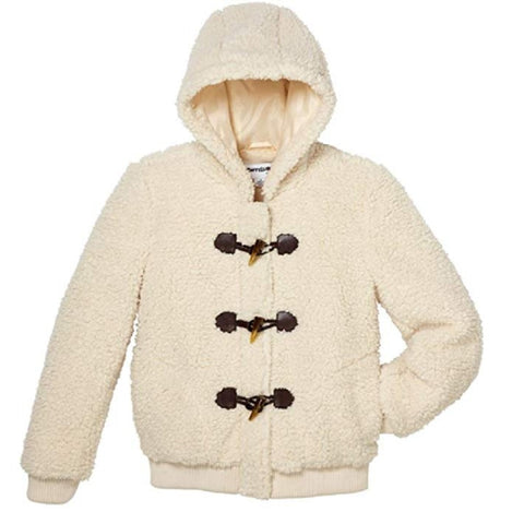 CoffeeShop Girls' Whubby Fleece Jacket - Cloud Creme