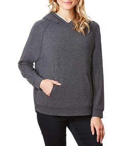 32 Degrees Ladies Sherpa Lined Hoodie - Dark Gray