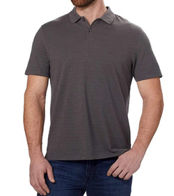 Calvin Klein Men's Short Sleeve Pique Cotton Polo Shirt - Deep Slate