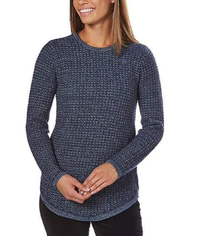 Jeanne Pierre Ladies' Crewneck Sweater - Denim Combo