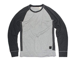 DKNY Jeans Men's Sweater Color Block Pullover - Grey