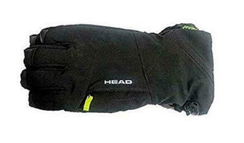 HEAD Unisex DuPont Sorona Insulated Ski Gloves With Pockets - Black