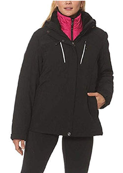 Gerry Ladies 3-in-1 Systems Jacket - Black/Pink