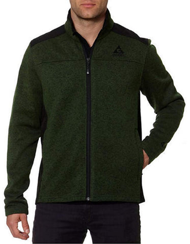 Gerry Men's Mixed Media Knit on the Go Full Zip Jacket - Army Green
