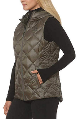 Gerry Women's Packable Reversible Down Vest - Olive/Camo