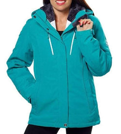 Gerry Systems Women's 3-in-1 Jacket with Detachable Hood - Teal