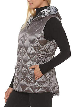 Gerry Packable Reversible Down Vest - Zinc/Moondust Dry Brush