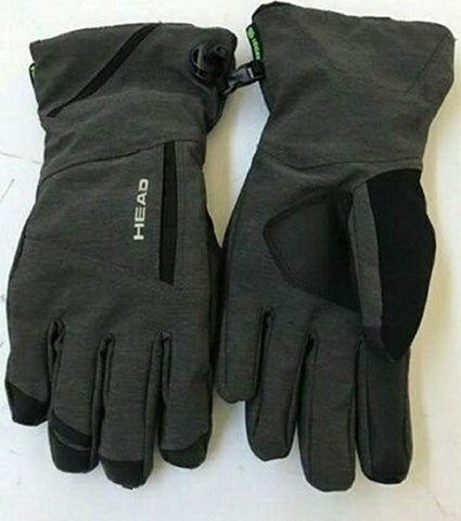 HEAD Unisex DuPont Sorona Insulated Ski Gloves With Pockets - Gray