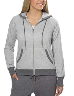 Champion Ladies' French Terry Full Zip Hoodie - Gray Heather