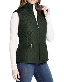 Weatherproof Ladies' Ultra Soft Cozy Lining Quilted Vest - Green