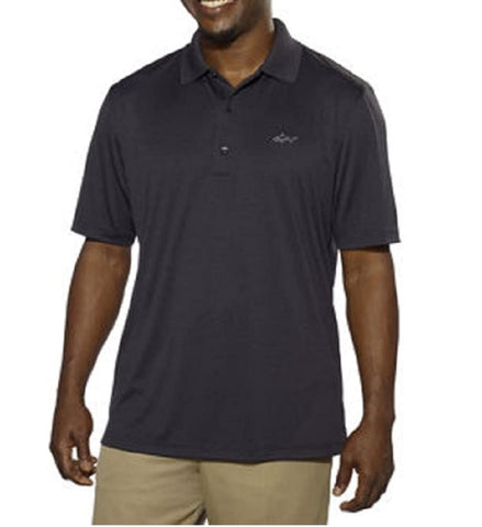 Greg Norman Signature Series Mens ML75 Play-Dry Performance Polo Shirt - Black
