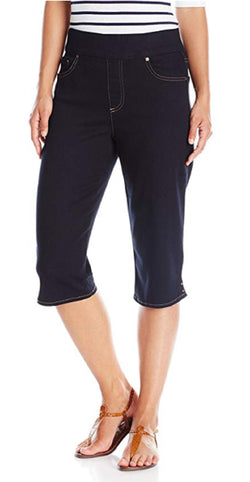 Gloria Vanderbilt Women's Avery Denim Pull-On Skimmer Capri - Liverpool
