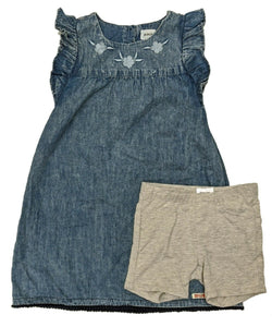 Hudson Kids! Girls 2pc Dress w/ Short Set - Sapphire