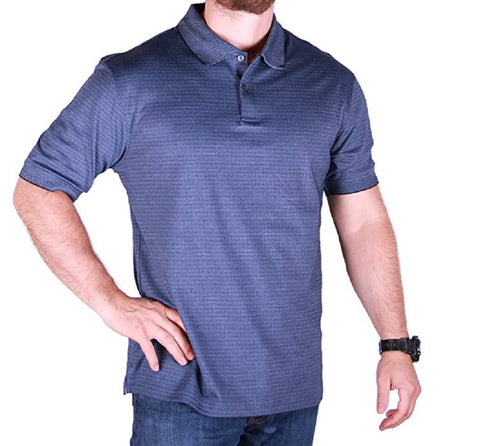 Hudson River Mens' Heritage Classic Short Sleeve Polo Shirts - Glacier Blue