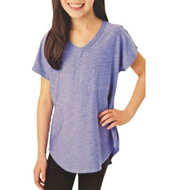 Tuff Athletics Girl's Short Sleeve Active Tee - Lavender