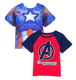 Marvel Avengers The Age of Ultron Boys 2 Pack T Shirt Set
