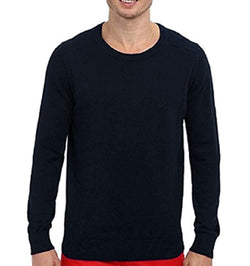Nautica Mens Long Sleeve Crew-Neck Pullover Sweater - Navy