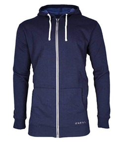 O'Neill Men's Fleece Full Zip Hooded Line Up Jacket - Navy