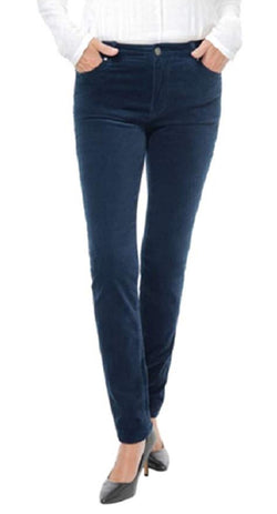 Buffalo David Bitton Women's Mid-Rise Skinny Velvet Pant - Navy