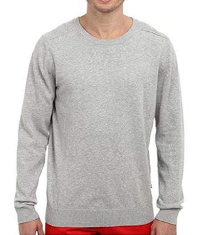 Nautica Men's Solid Crew Neck Classic Jersey Sweater - Grey