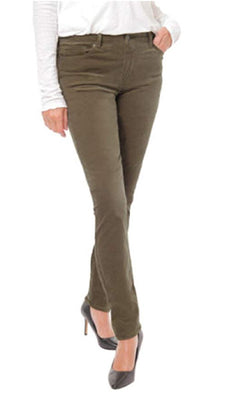 Buffalo David Bitton Women's Mid-Rise Skinny Velvet Pant - Drift Green