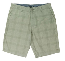 O'Neill Mens Plaid Flat Front Shorts - Khaki