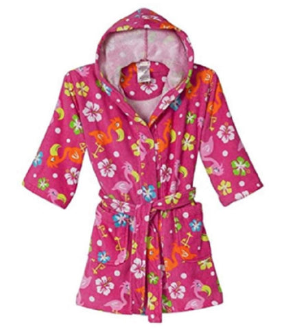 St. Eve Girls Beach Cover-up Robe - Pink Flamingo