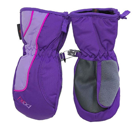 Head Jr. Girls Zippered Side Ski Mittens - Purple / Pink