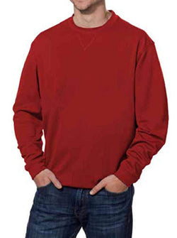 Pebble Beach Mens Performance Crew Neck Golf Pullover - Red